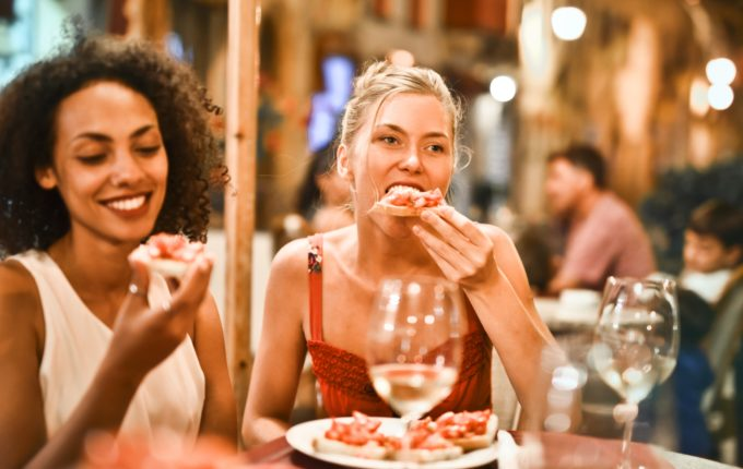 Two Women Dining